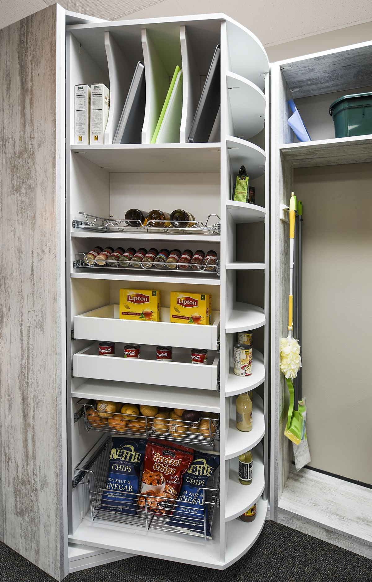 Pantry with Rotating Insert