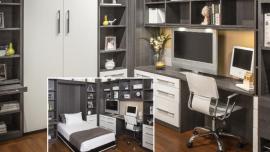 Murphy Bed Desk Storage